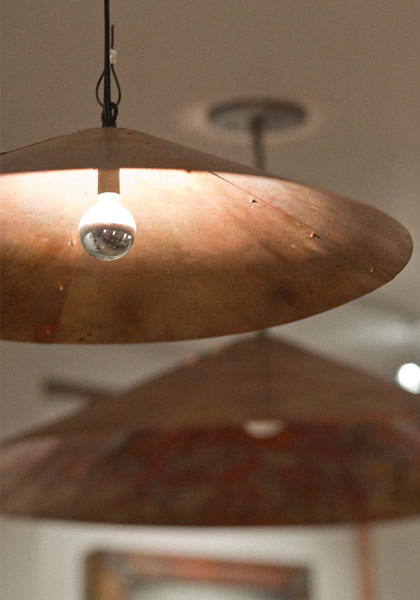 Copper Lamp Shades at Yours Truly