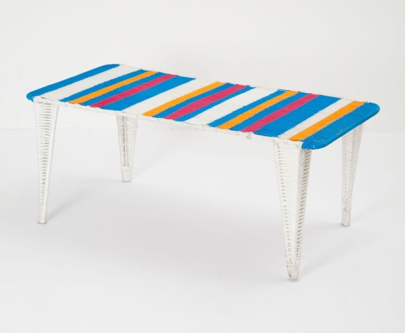 Anthropologie's handwoven Lita table