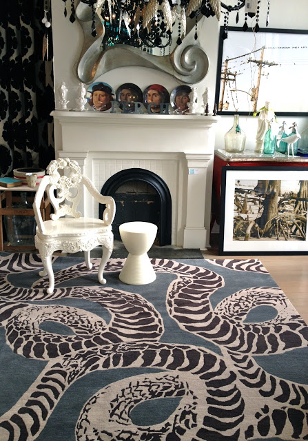 Kelly Wearstler's Serpent rug for the Rug Company